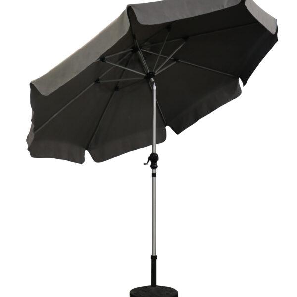 2.7m brushed aluminium parasol grey