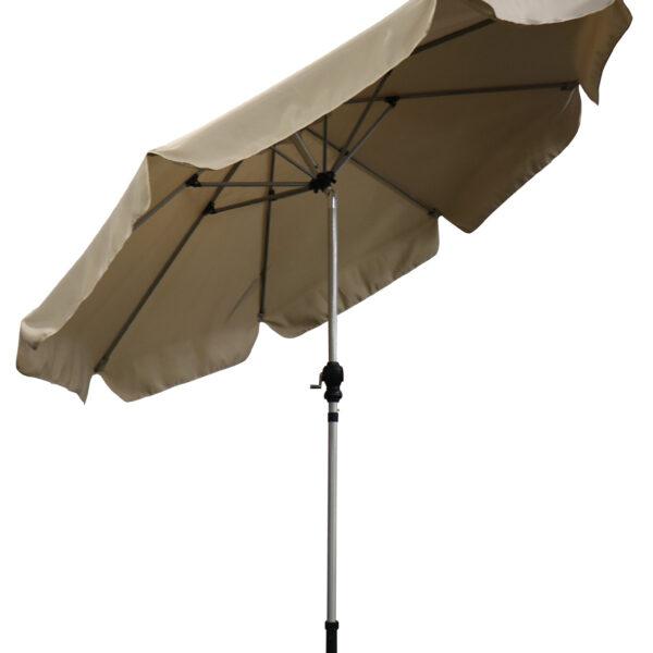 2.7m brushed aluminium parasol beige