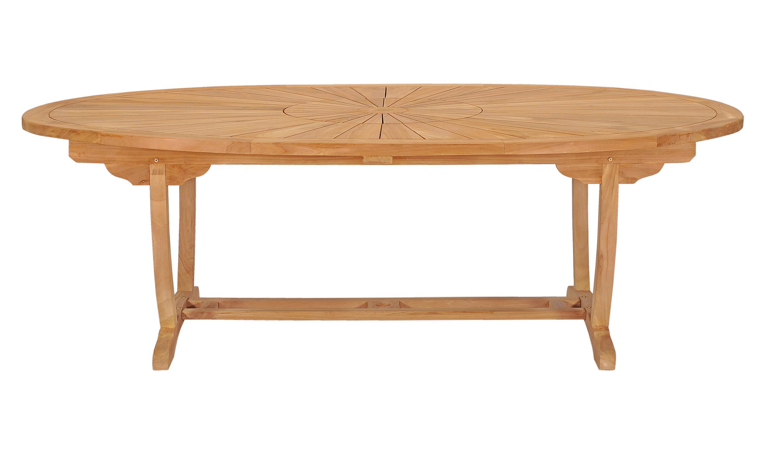 teak oval garden table