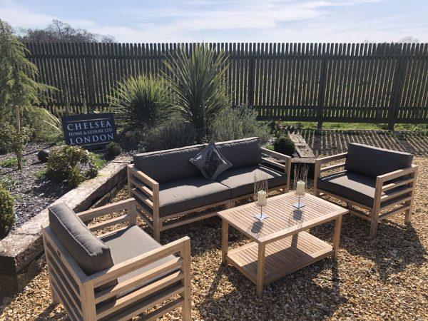teak garden couch
