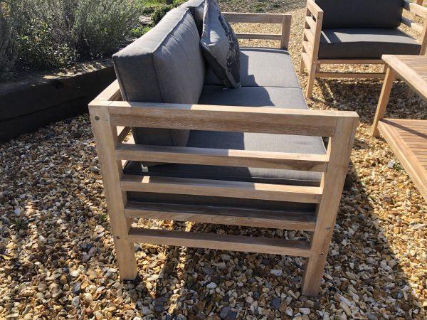 teak sofa chair side