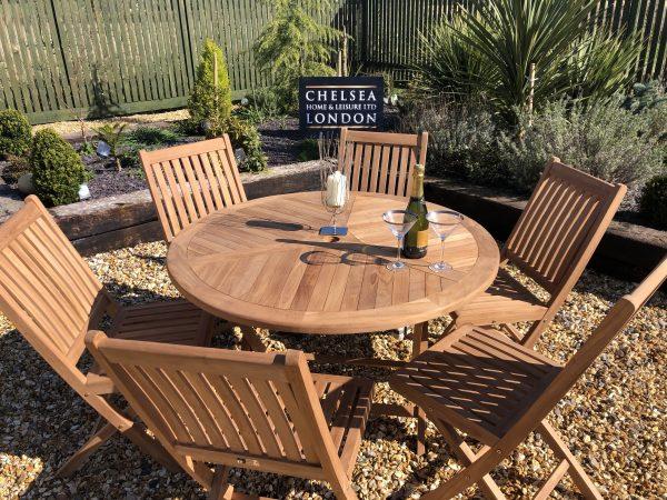 folding garden table set