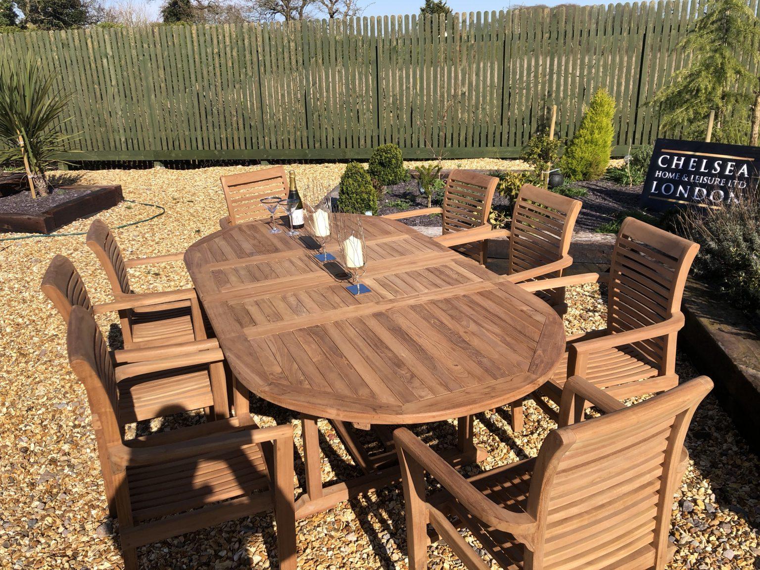 teak garden patio set