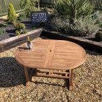 teak extending table unextended