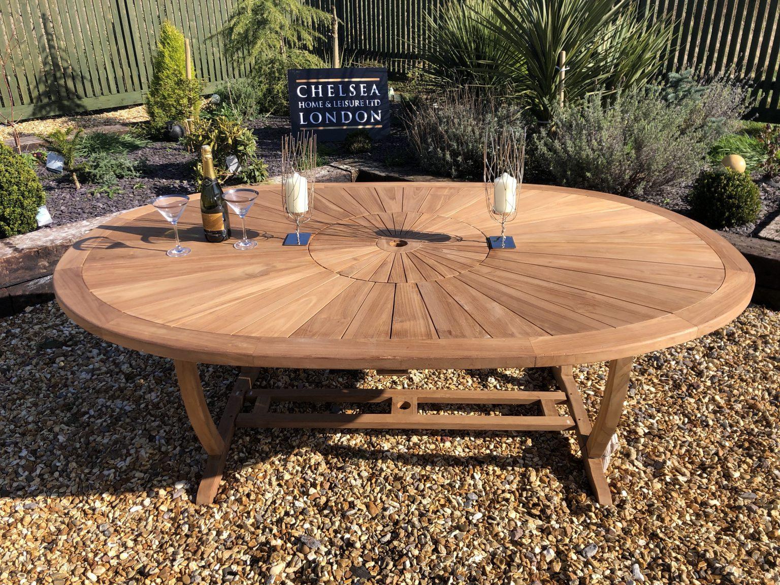 teak sunset table