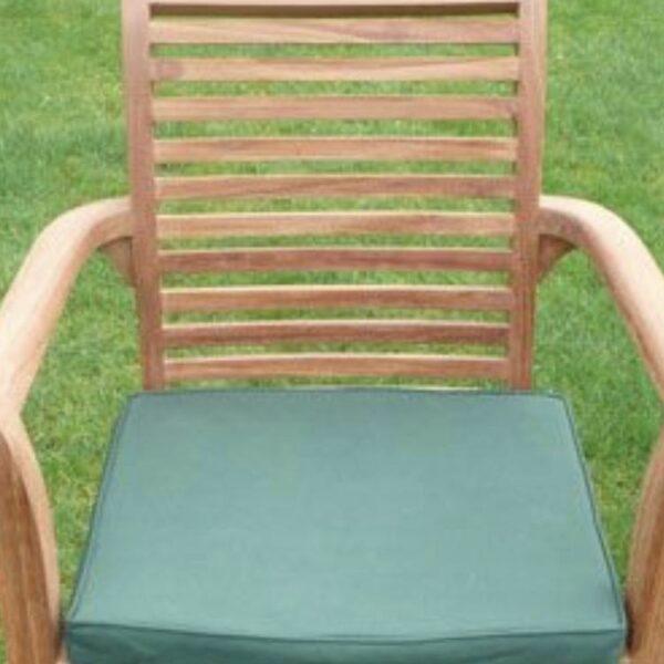teak stacking chair cushion