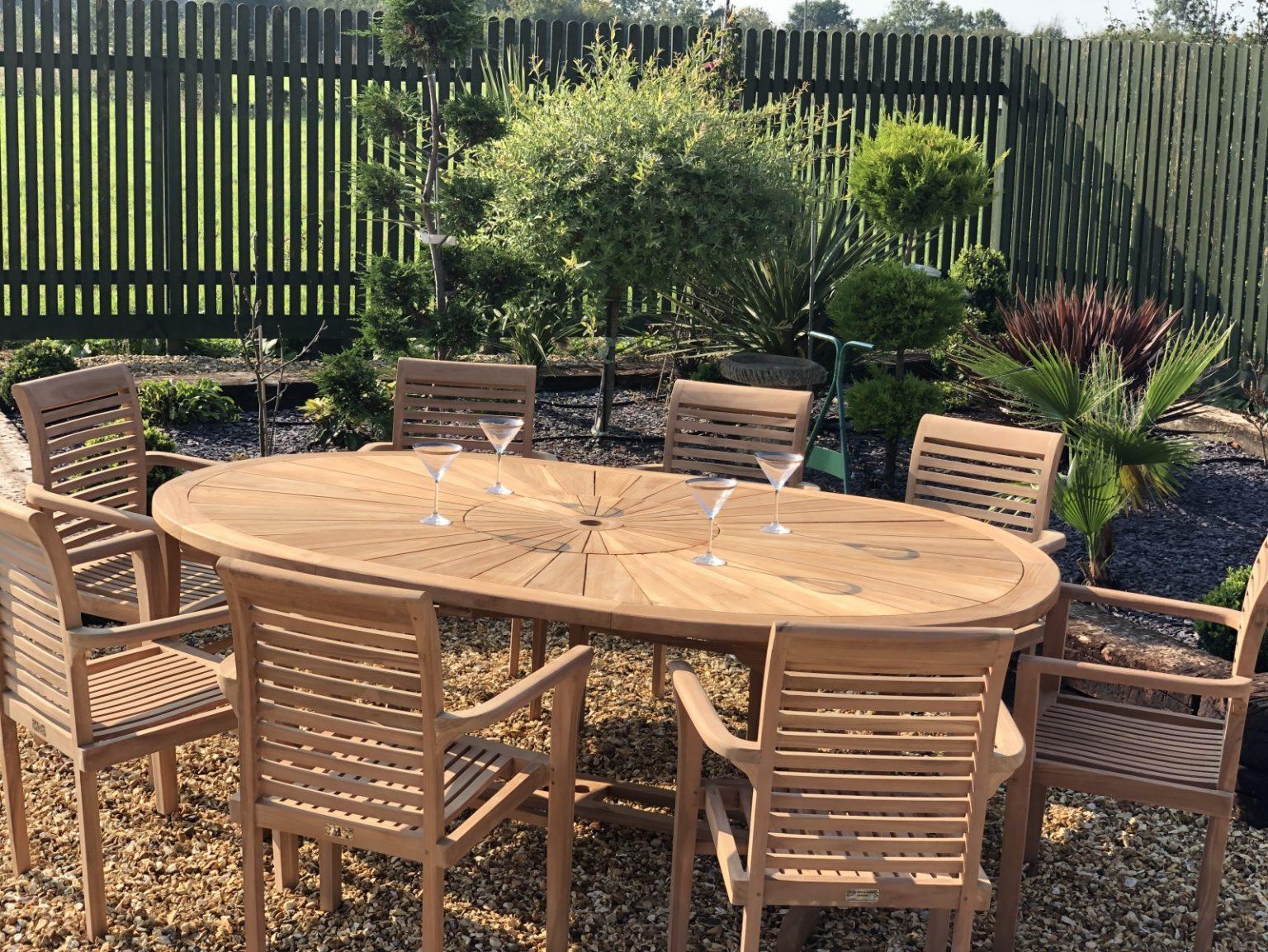 teak garden furniture table