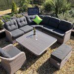 rattan sofa large down